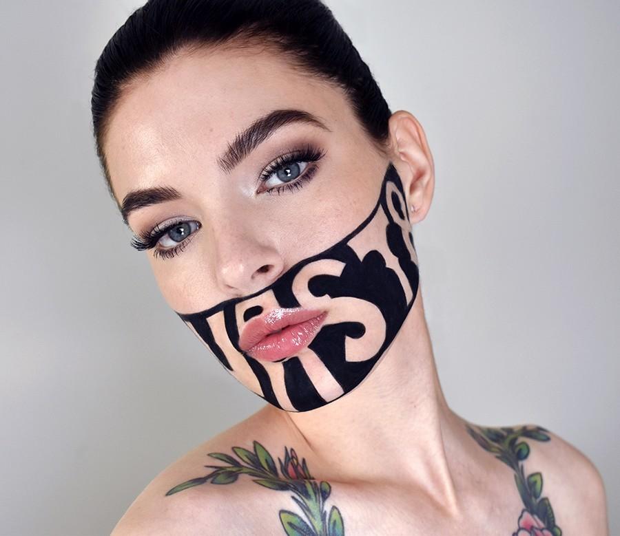 DEVAST8, татуировка на лице
