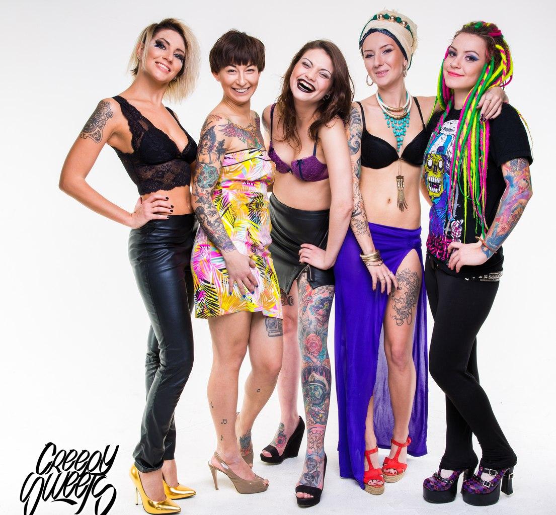 Creepy Sweets - первое в России агентство татуированных моделей