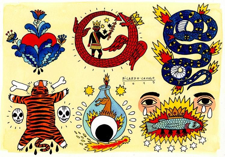 наивное искусство от Рикардо Каволо (Ricardo Cavolo)