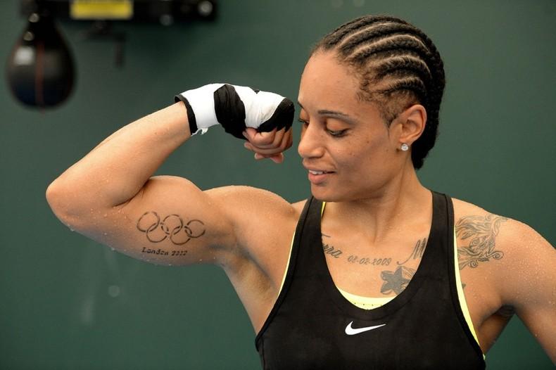 Quanitta Underwood, женский бокс, татуировка