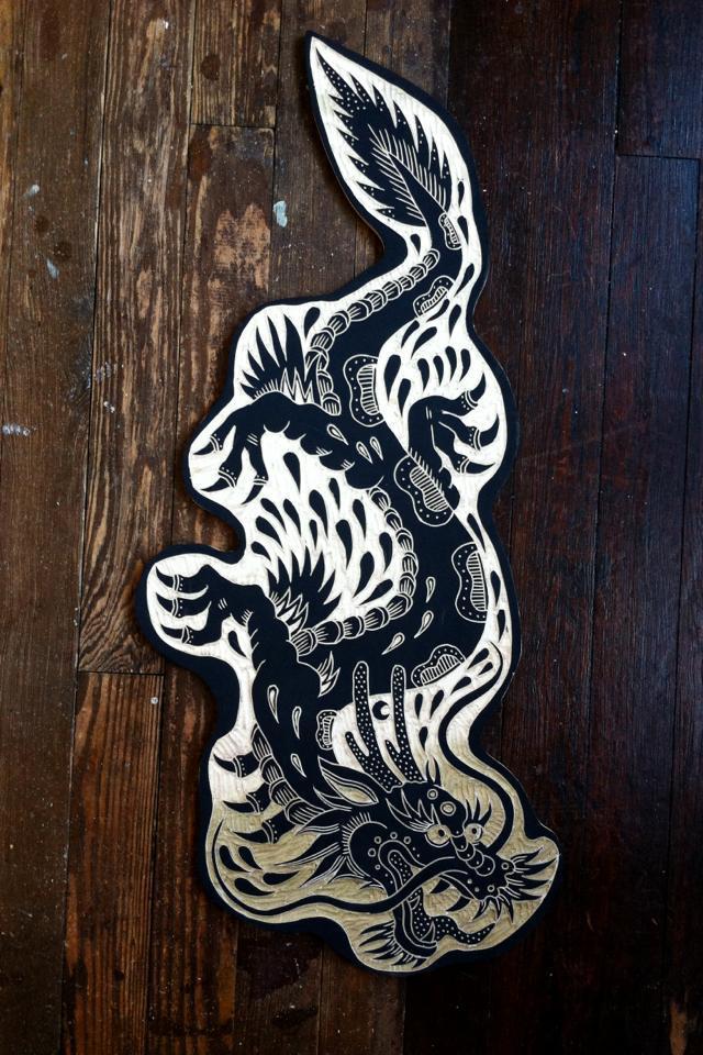 Резьба по дереву в стиле олдскул Bryn Perrott