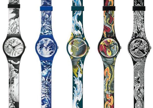 swatch тату-часы