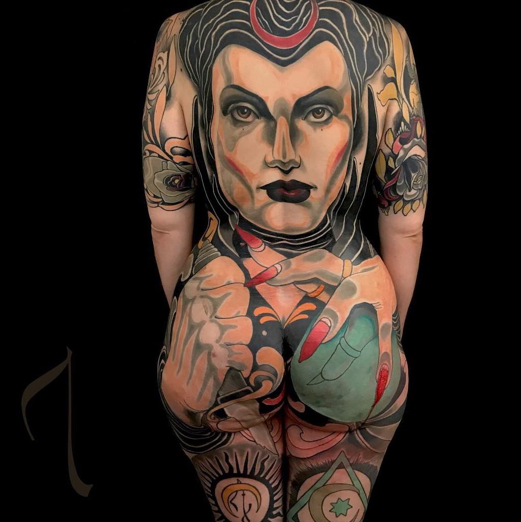 татуировки, Адриана Мачете, tattoo, Adrian Machete, мексика