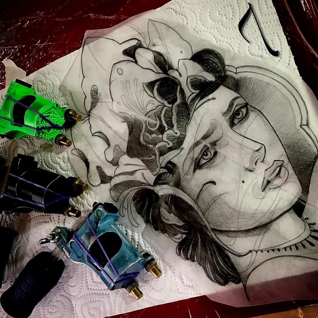 татуировки, Адриана Мачете, tattoo, Adrian Machete, мексика, эскиз