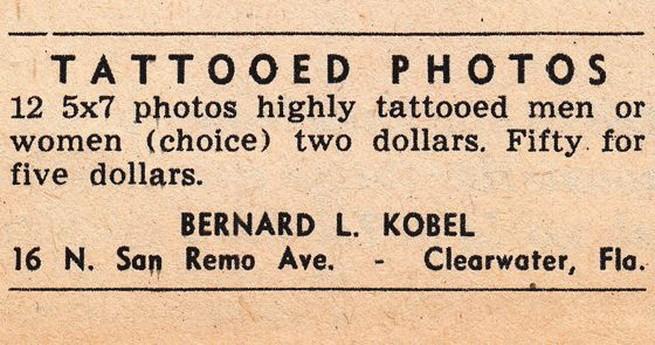 Bernard Lyle Kobel, коллекционер, татуировки, винтаж