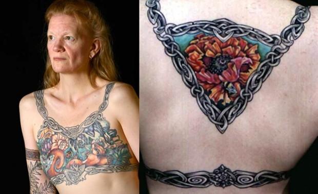 татуировка на груди, удаление молочных желёз, мастэктомия