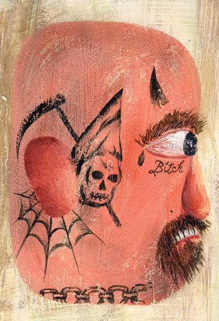 тюремная татуировка, El Rotor Tatua, мексиканская тюрьма, татуированные бандиты, татуировки на лице