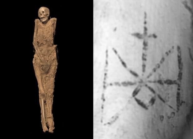 мумия с христианскими татуировками