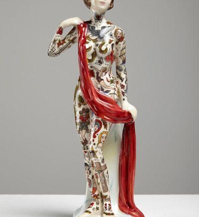 фарфоровые статуэтки с татуировками