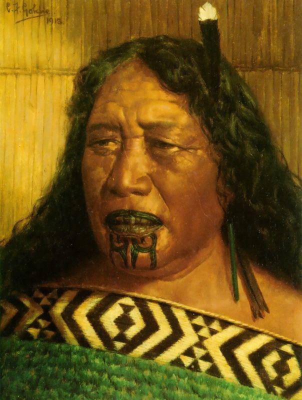 чарльз голди и татуированные маори
