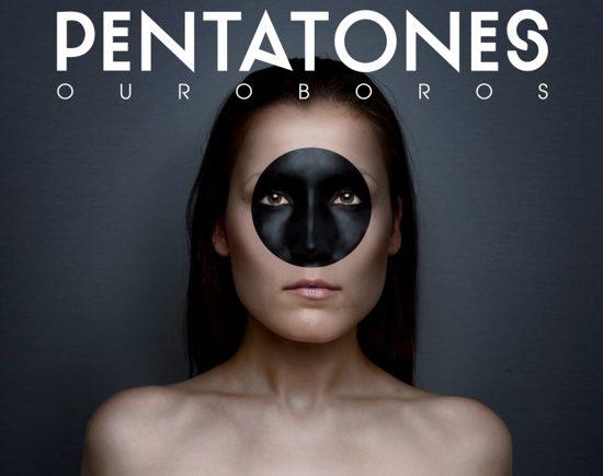 """татуировка на лице """"Pentatones - Ouroboros"""""""