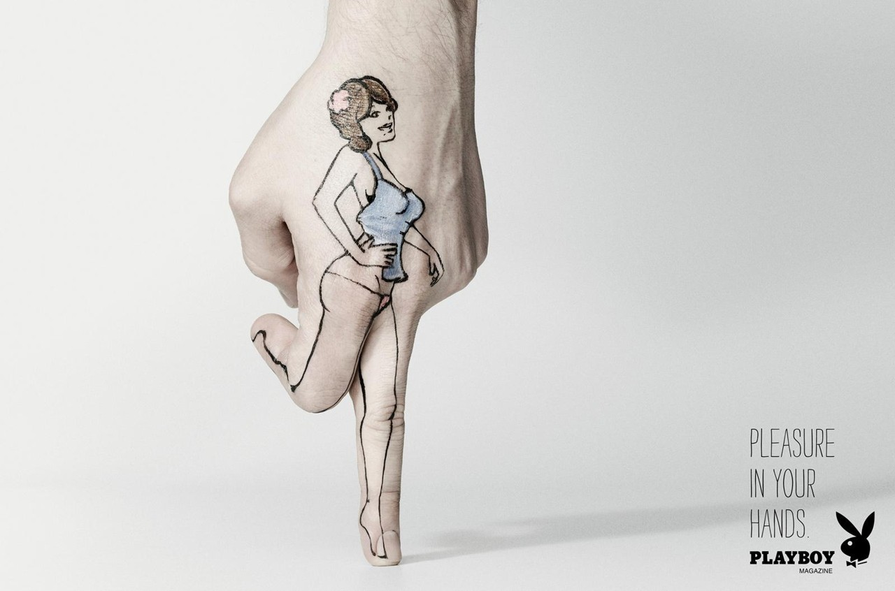 удовольствие в твоих руках - реклама playboy