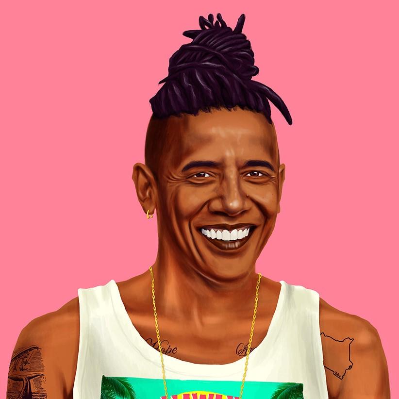 Обама с татуировками
