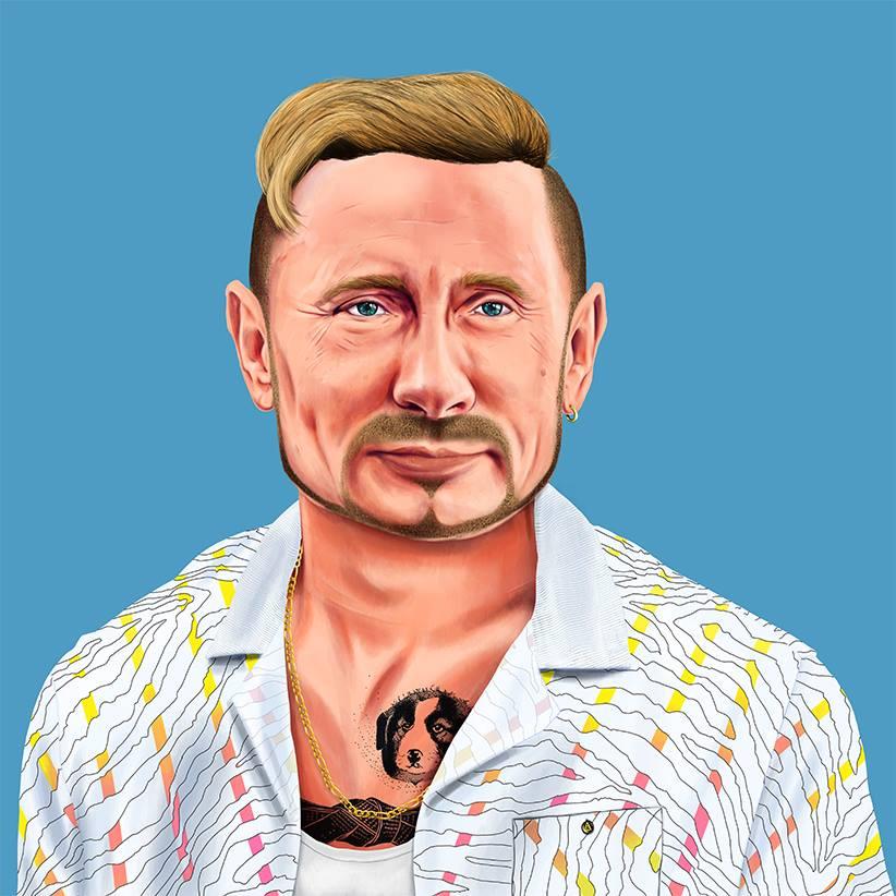 Путин с татуировками