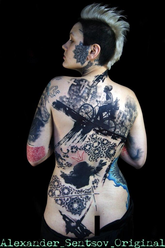 Александр Сенцов: лучшая татуировка в стиле трэш-полька