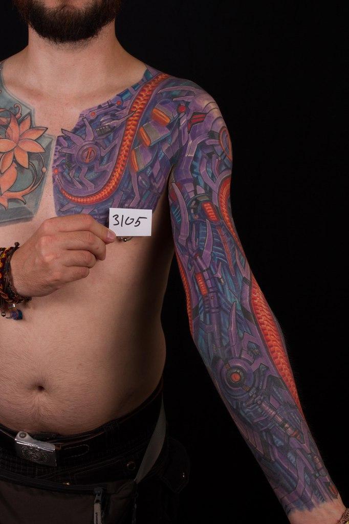 лучшая большая татуировка 5-го сибирского тату-фестиваля 2015