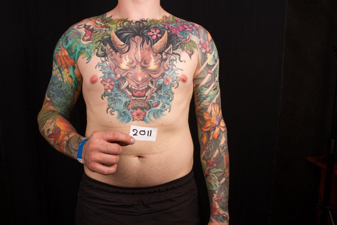 лучшая японская татуировка 5-го сибирского тату-фестиваля 2015