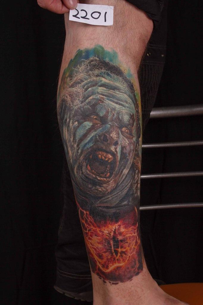 лучшая татуировка в стиле реализм 5-го сибирского тату-фестиваля 2015