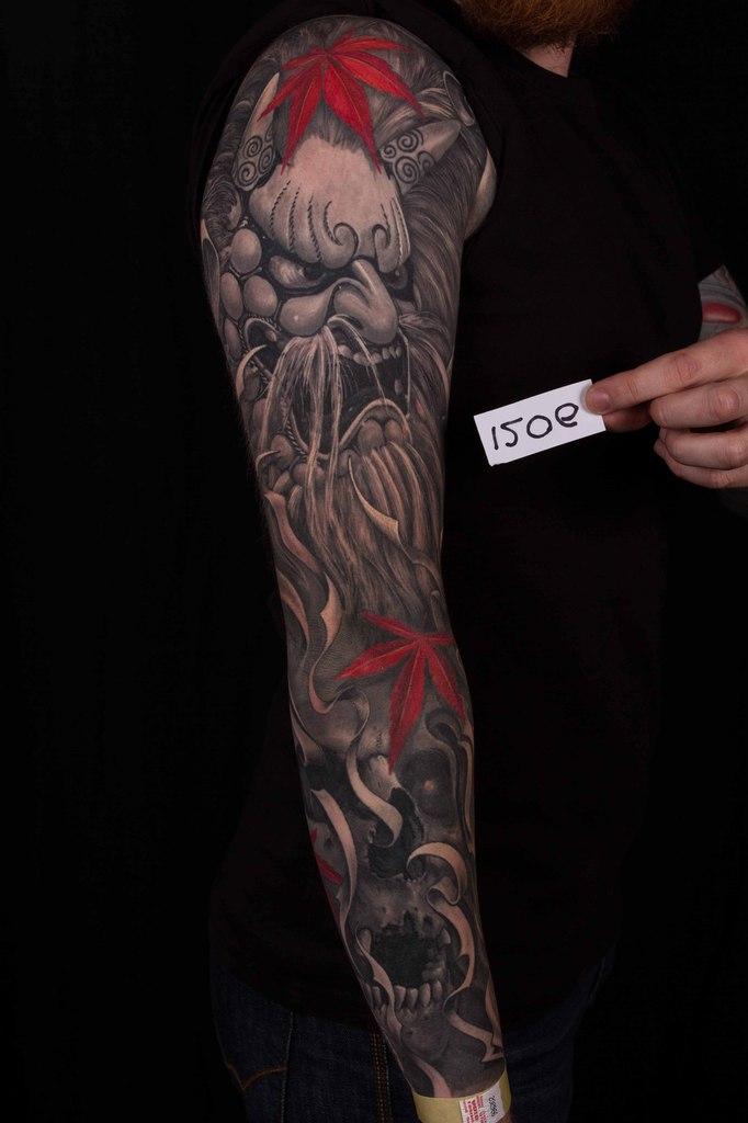 лучшая черно-белая татуировка 5-го сибирского тату-фестиваля 2015