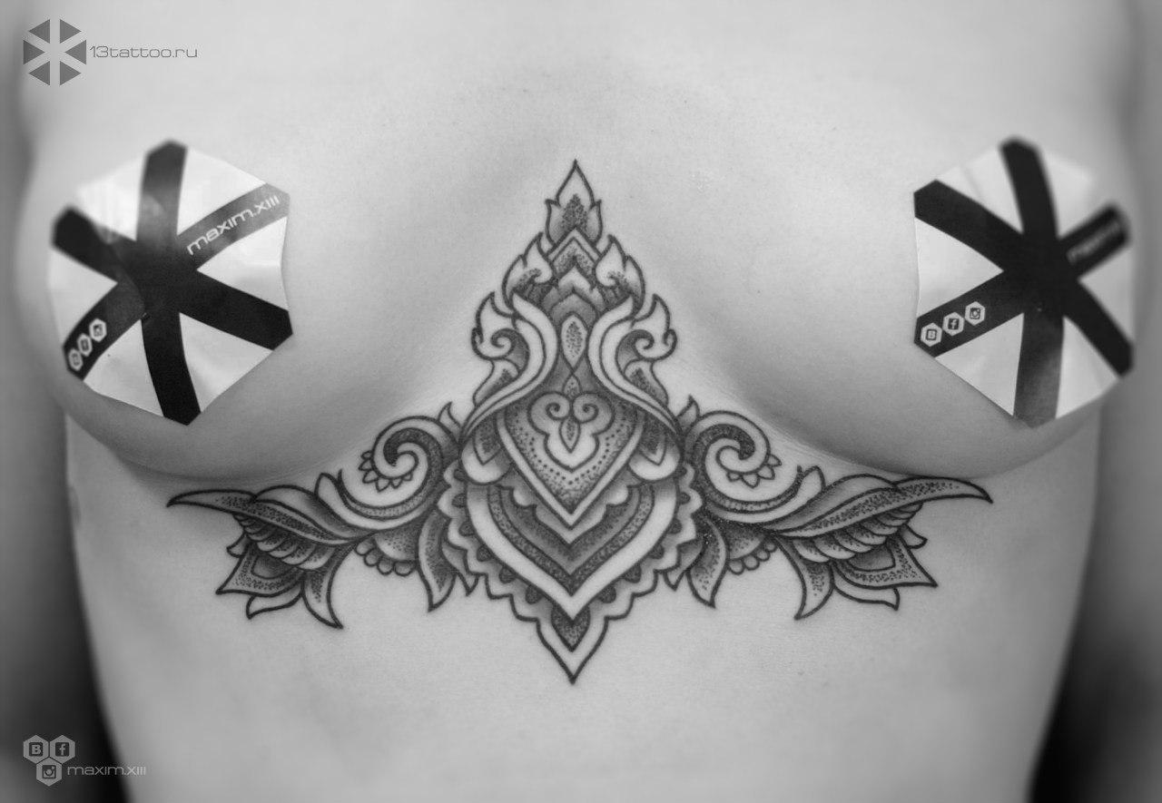 орнаментальная татуировка Максима Журавлёва