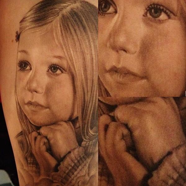 портретная татуировка Franco Vescovi