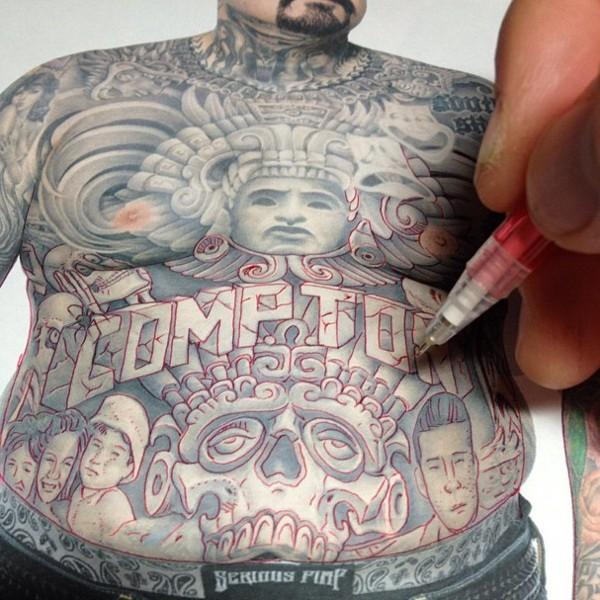 эскиз татуировки Franco Vescovi