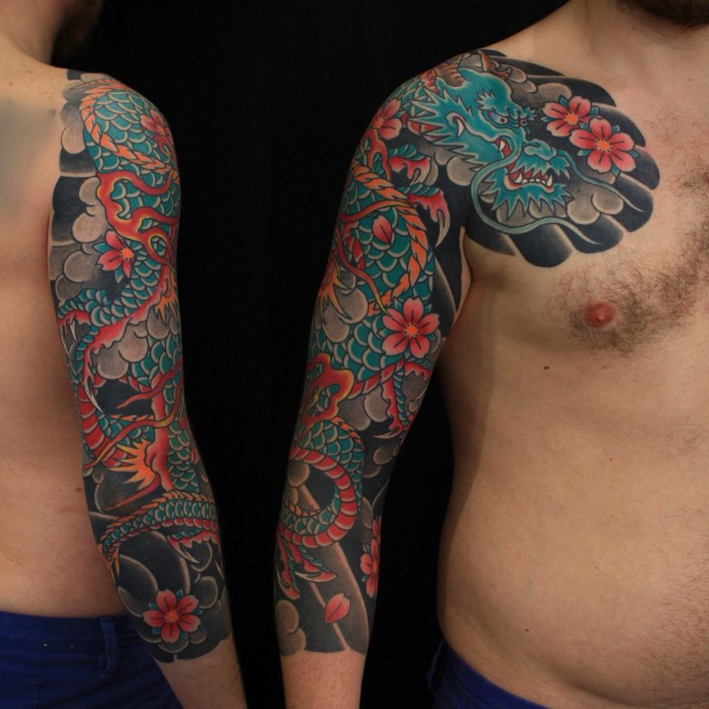 Сергей Буслаев (рукава, японская татуировка)