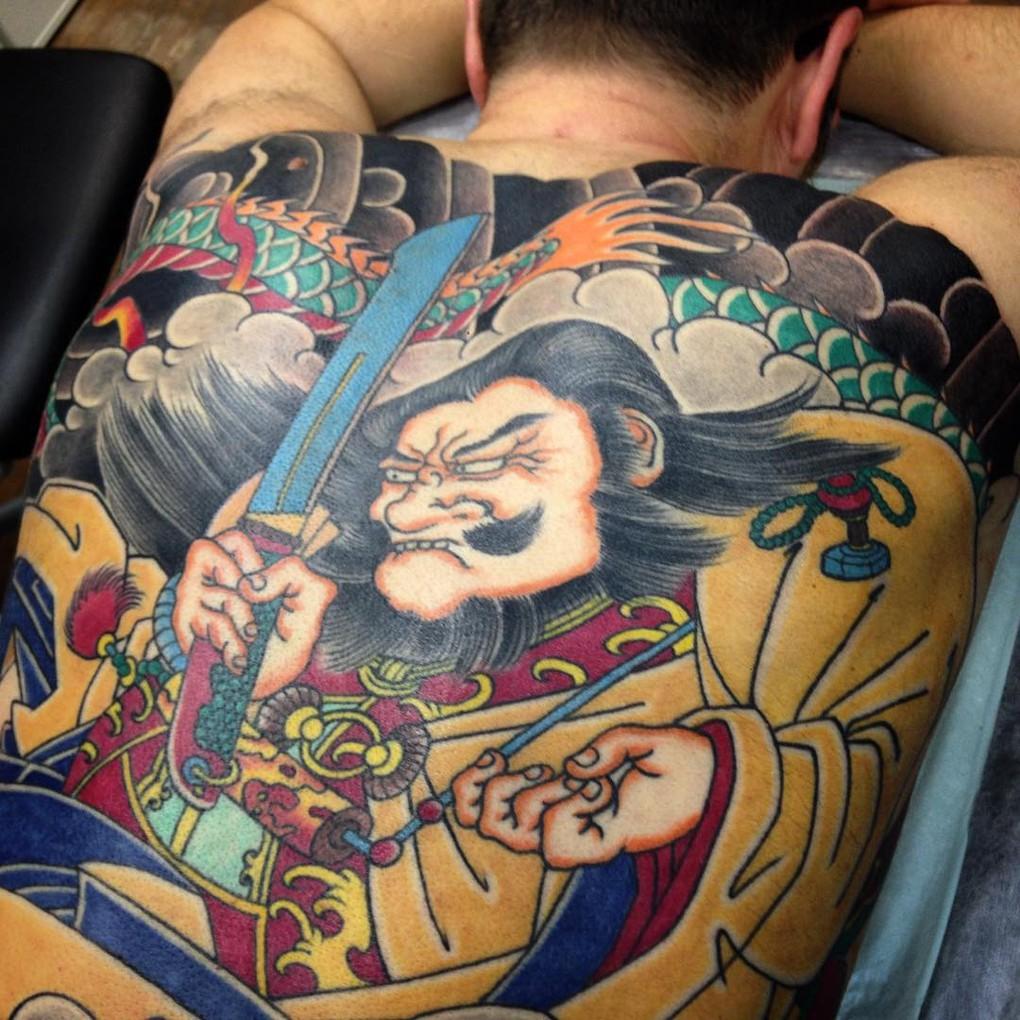 Сергей Буслаев (спина, японская татуировка)