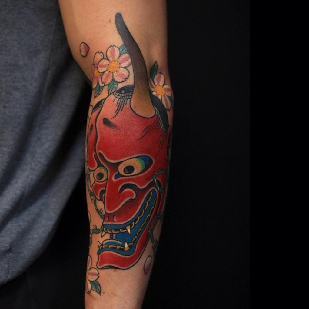 Сергей Буслаев (японская татуировка, демон)