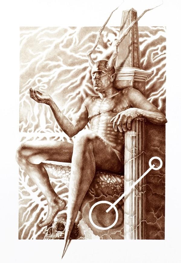 Vincent Castiglia - живопись кровью