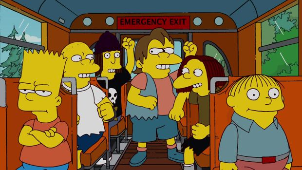 спрингфилд, симпсноы, автобус