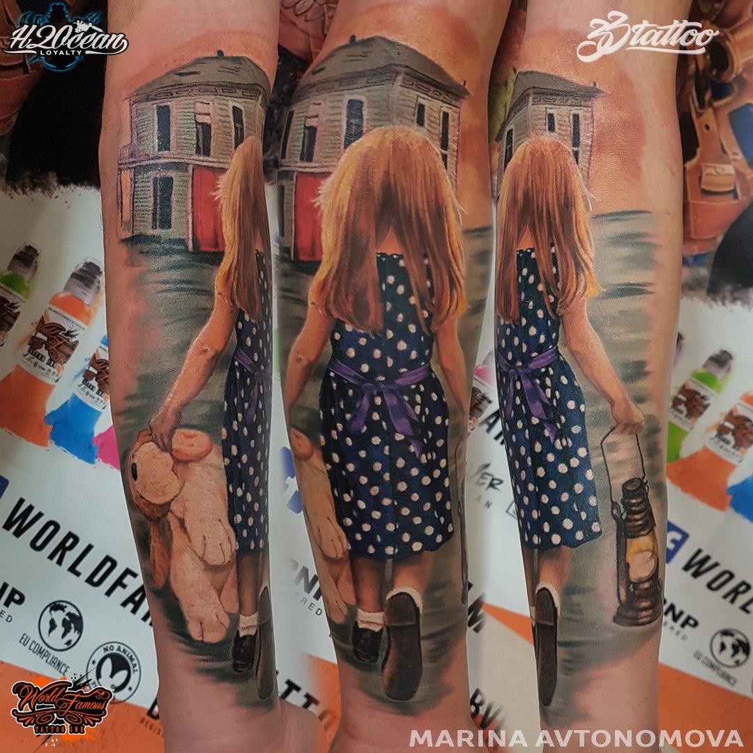 марина автономова, татуировки
