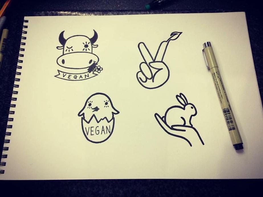 вегетарианские татуировки