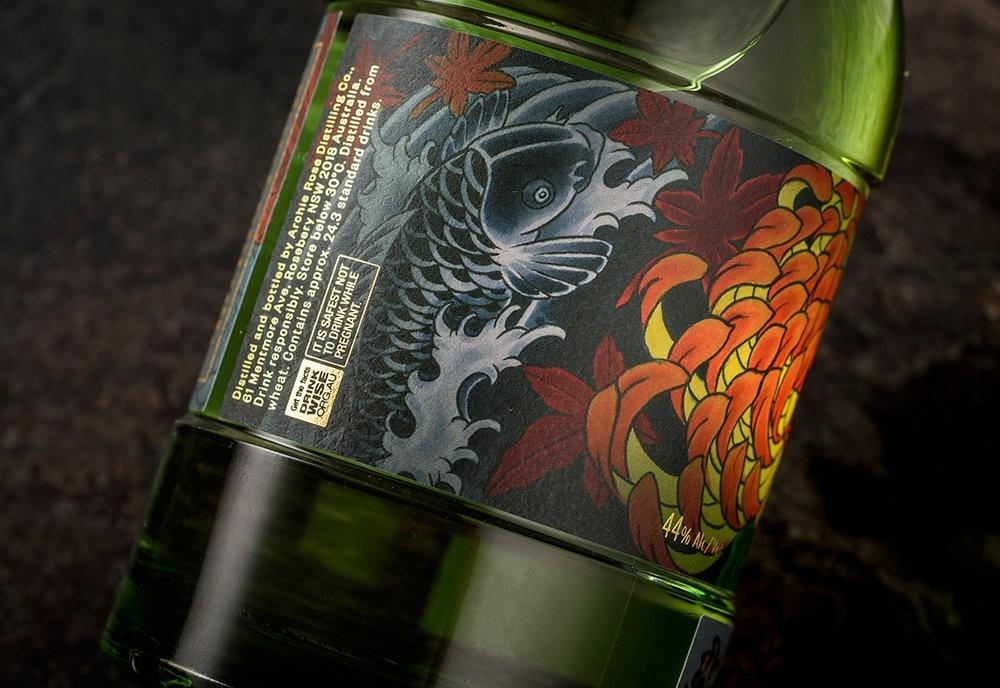 алкоголь, джин, японская татуировка