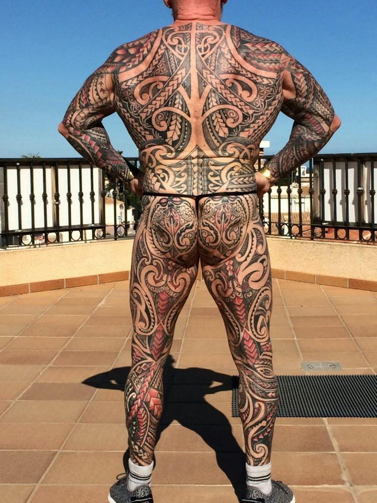 рэй хоутон, татуировки в старости, бодибилдер, полинезия