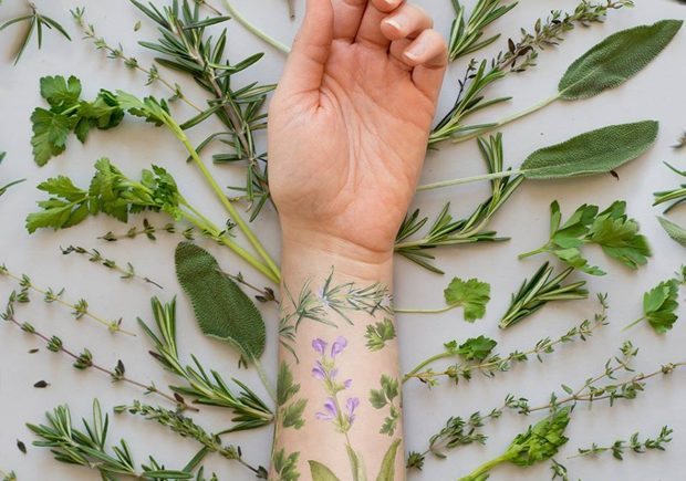 tattly, пахнущая татуировка