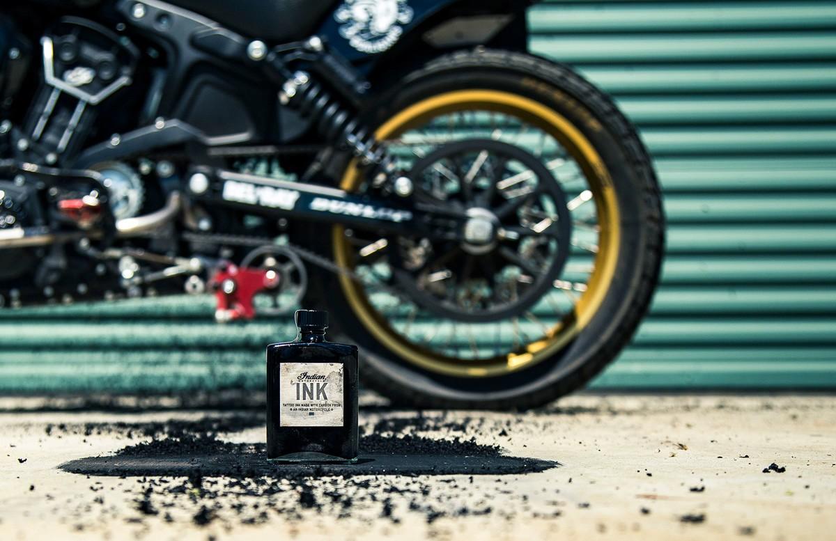 мотоцикл, indian, шины, покрышки, технический углерод, тату-краска, franco vescovi, nocturnal tattoo ink