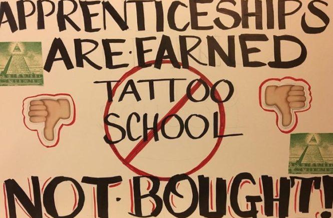 школа татуировки, марш протеста, пенсильвания, сша, academy of responsible tattooing