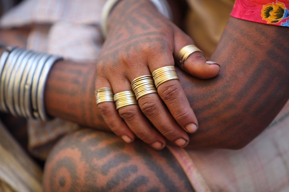 племя Байга, Индия, тату-традиции, племенная татуировка, оберег, магия, орнамент