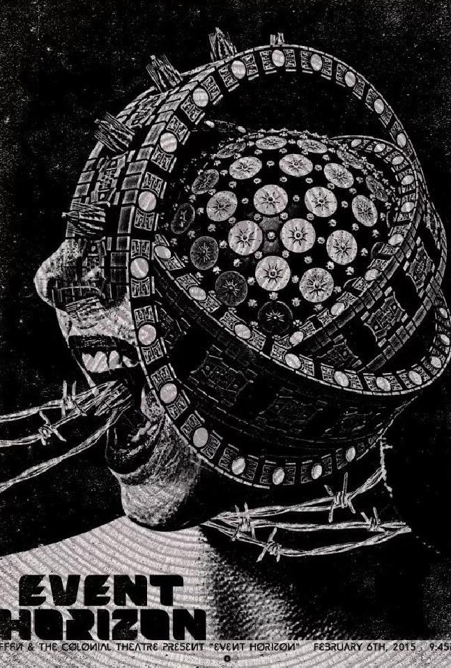 Пол Бут, биомеханика, Event Horizon, Горизонт Событий, Ганс Руди Гигер, татуировка на лице, черная дыра, Paul Booth