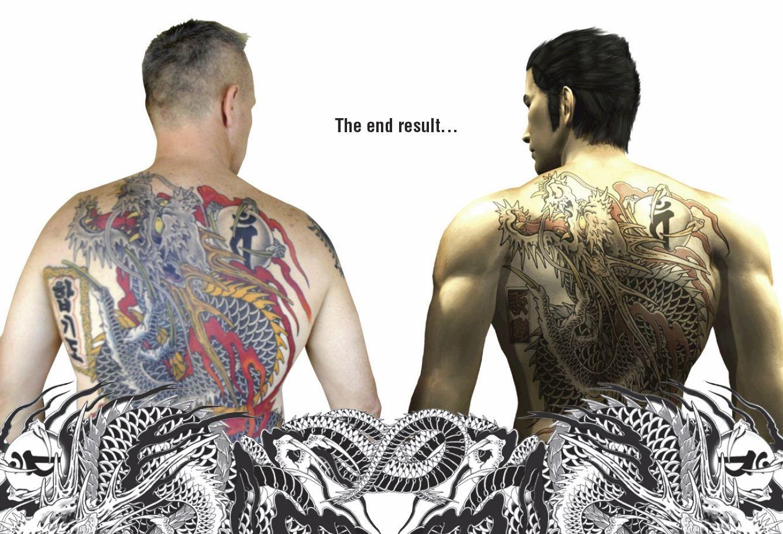Yakuza, Кадзума Кирю, Tatudharma,Fari Salievski, японская татуировка, Sega
