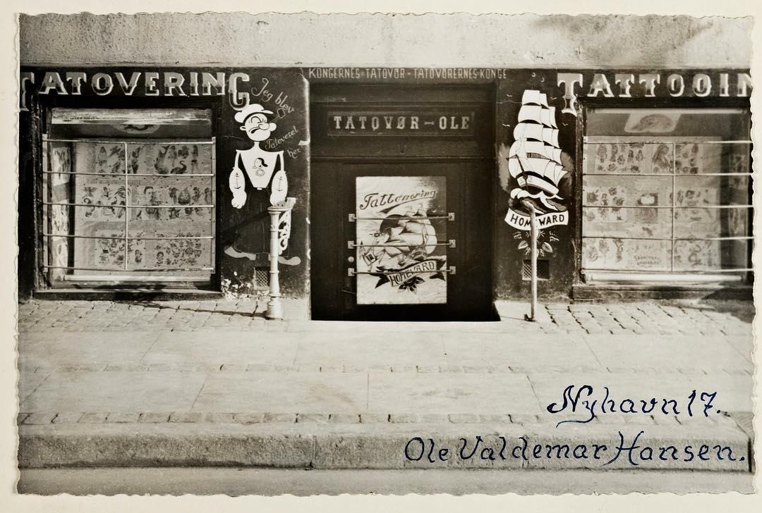 Tattoo Ole, Копенгаген, Фредерик IX, Нюхавн, тату-студия, Татуированный король, Король-моряк, Nyhavn