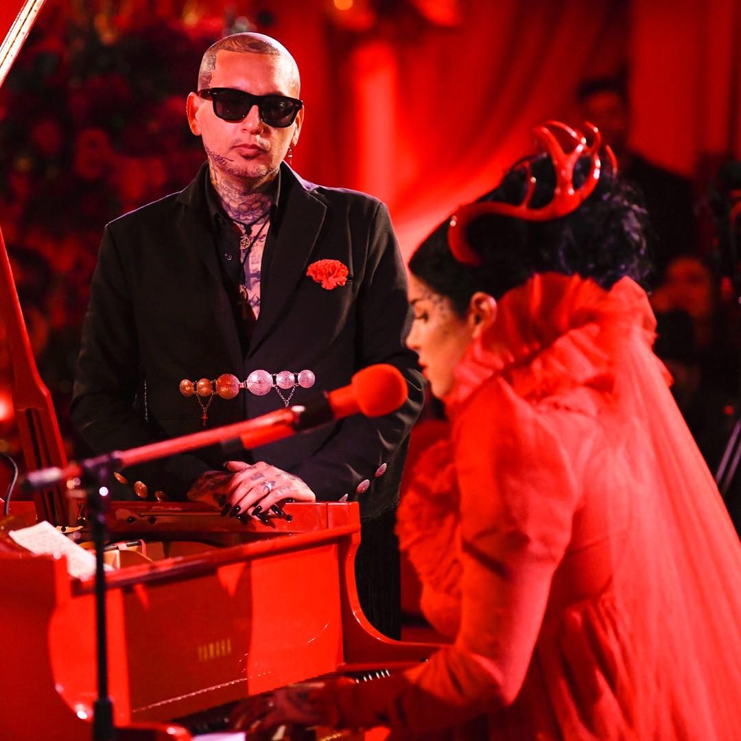 Кэт Вон Ди, Рафаэль Рейс, готическая свадьба, готика, красный цвет, королева готики