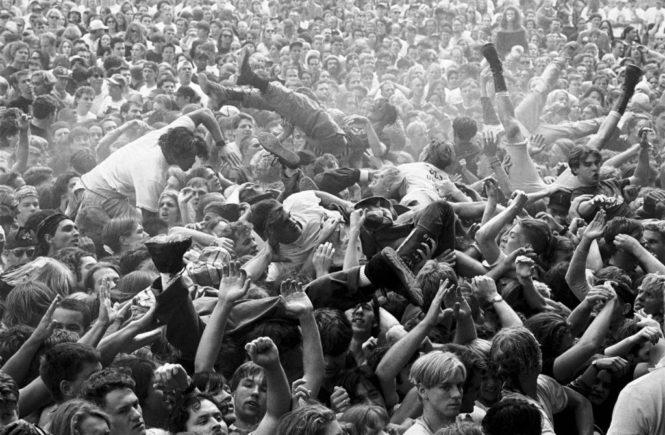 мош, слэм, металисты, концерт, танцы перед сценой, ритуал, линдси бишоп