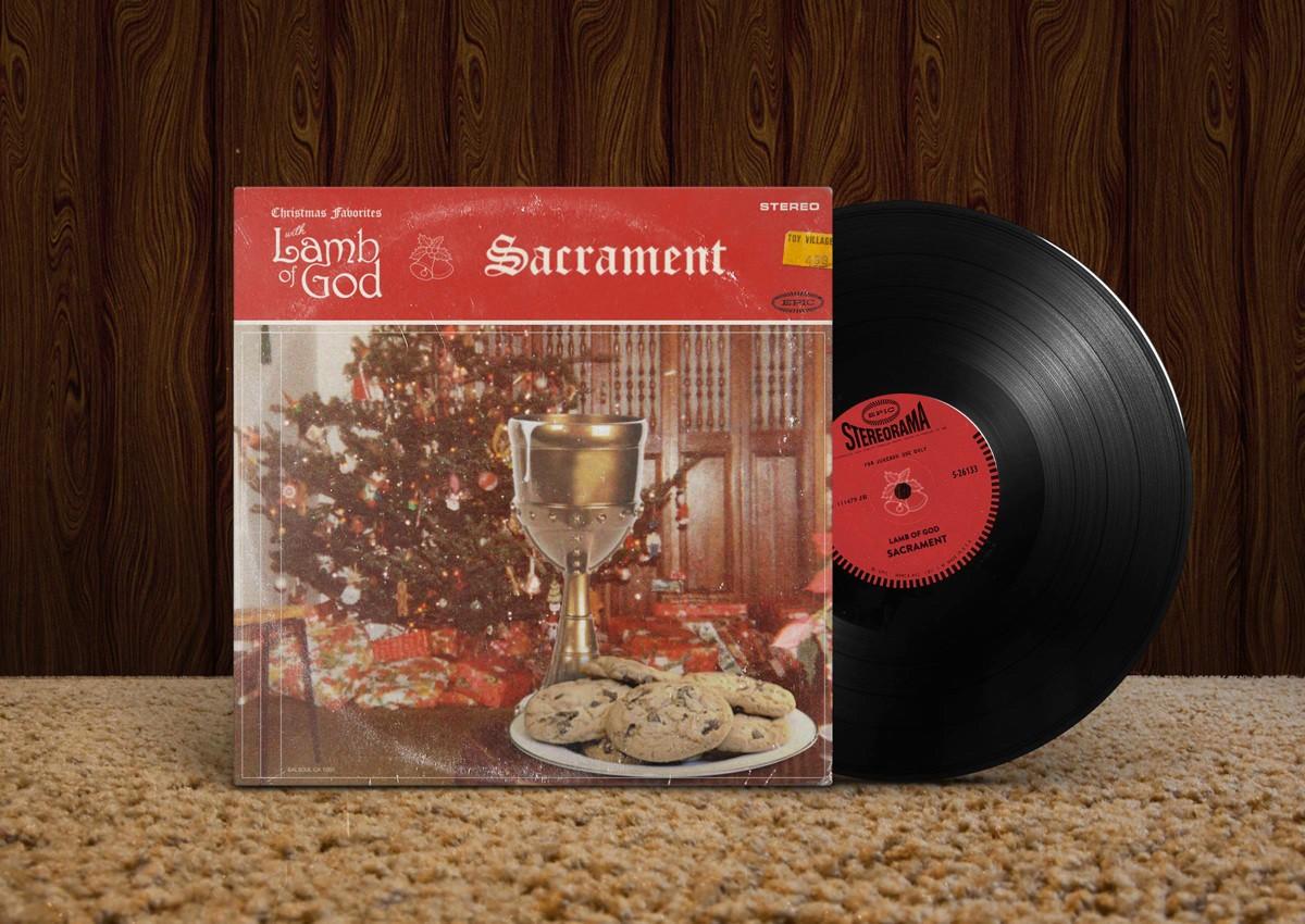 lamb of god, sacrament, 2006, обложка альбома, album cover art
