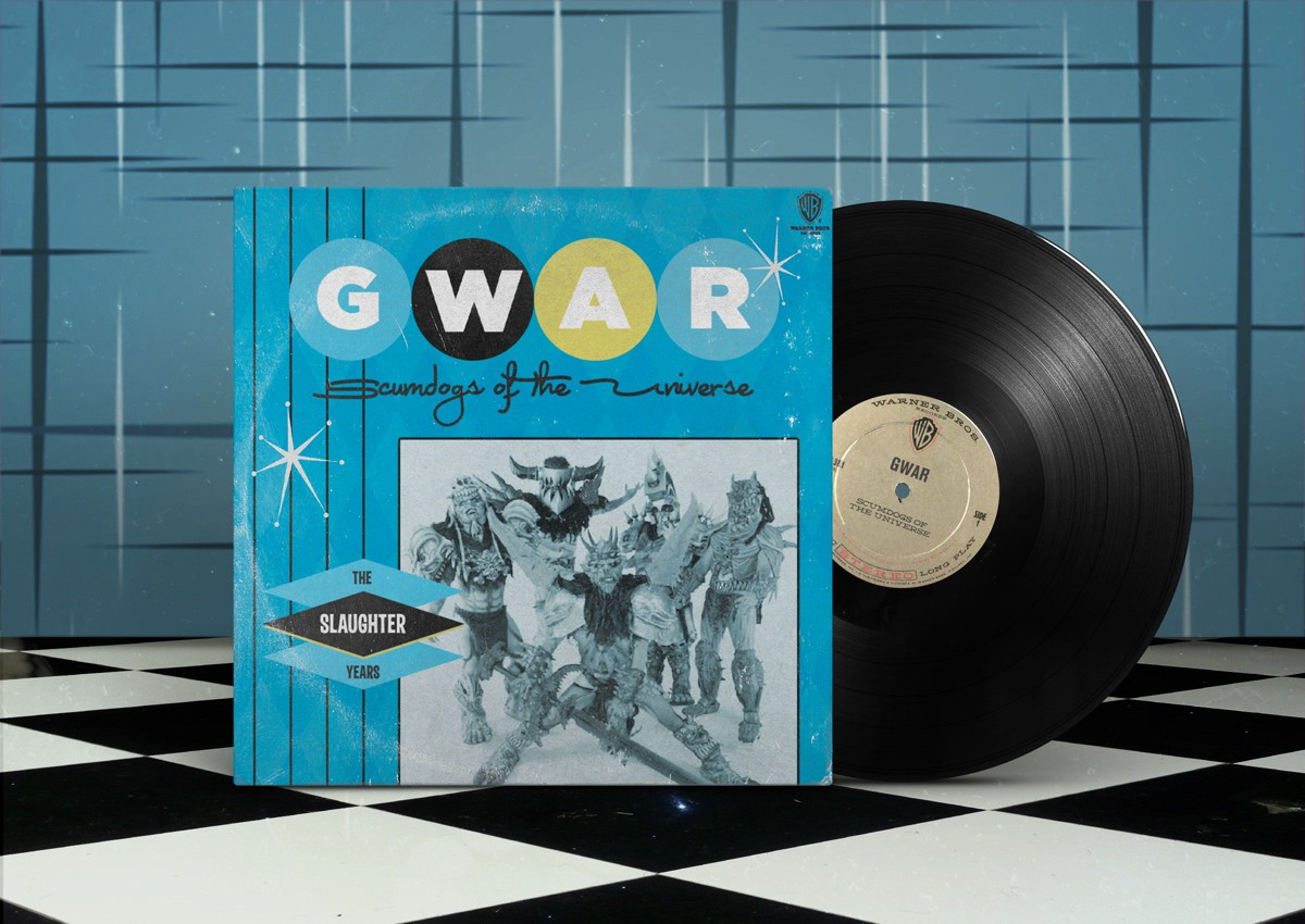 gwar, slaughter years, scumdogs of the universe, 1990, обложка альбома, album cover art