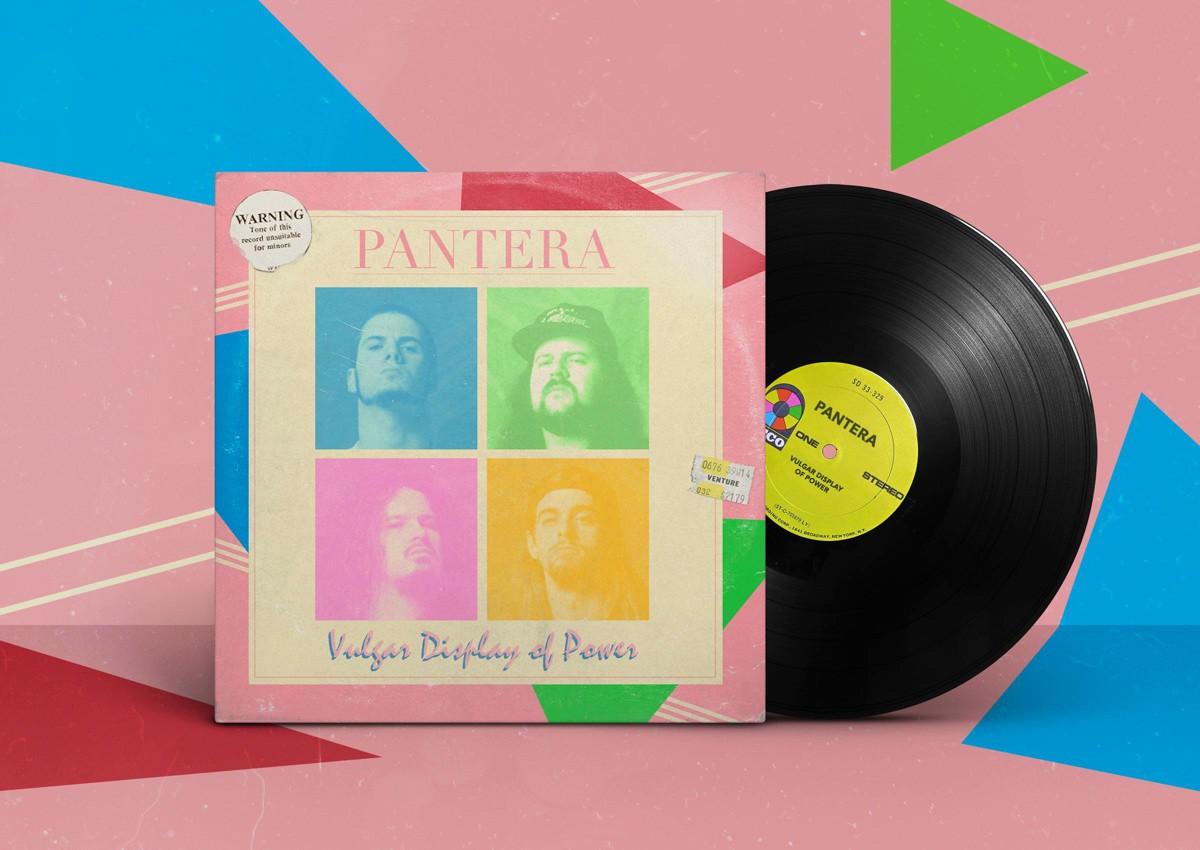 pantera, пантера, vulgar display of power, 1992, обложка альбома, album cover art
