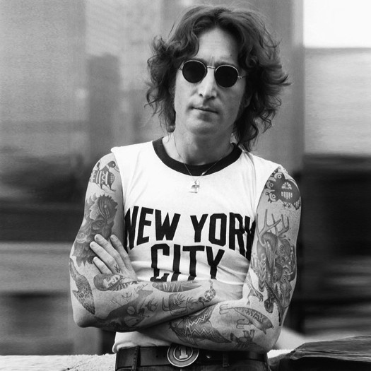Джон Леннон, John Lennon, шайенн рэндалл, татуированные знаменитости, фотошоп, cheyenne randall, сиэтл