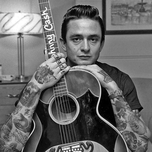 Джонни Кэш, Johnny Cash, шайенн рэндалл, татуированные знаменитости, фотошоп, cheyenne randall, сиэтл