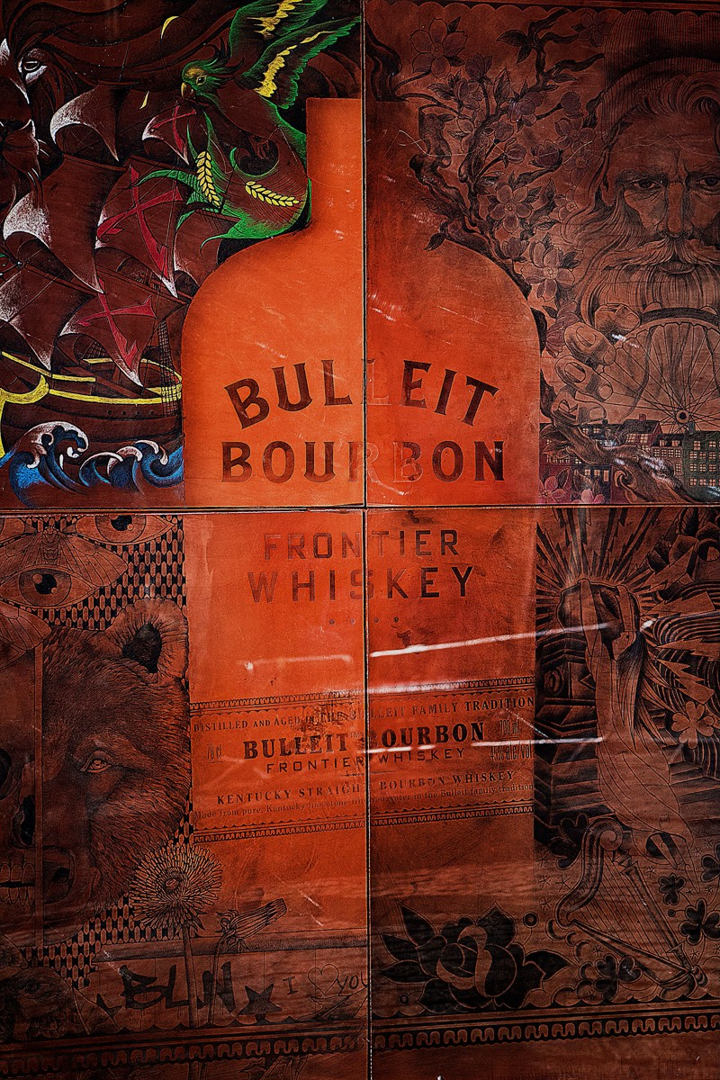 Bulleit, американский бурбон, влияние татуировки, Том Буллет, американский виски, продукт в стиле тату, компания diageo, американский алкоголь